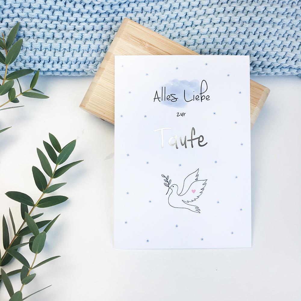 Postkarte Alles Liebe Zur Taufe